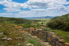 Verdedigingslijn inTorres Vedras Portugal Stock Foto