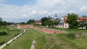 Verdedigingsmuren van de vesting van ZamoÅ› Ä ‡ Oostelijk Polen europa stock foto's