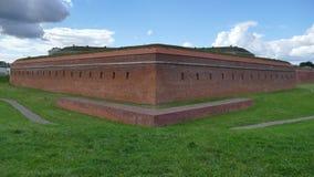 Verdedigingsmuren van de vesting van ZamoÅ› Ä ‡ Oostelijk Polen europa stock fotografie