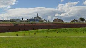Verdedigingsmuren van de vesting van ZamoÅ› Ä ‡ Oostelijk Polen europa royalty-vrije stock foto
