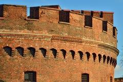 Verdedigingstoren Der Dohna Kaliningrad (vroeger Koenigsberg), R royalty-vrije stock foto's