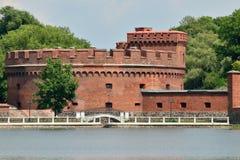 Verdedigingstoren Der Dohna Kaliningrad (vroeger Koenigsberg), R stock foto's