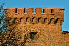 Verdedigingstoren Dohna Kaliningrad (vroegere Koenigsberg), Rusland stock afbeelding