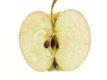 Verdeelde appel royalty-vrije stock afbeelding