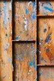Verdeelde houten plank royalty-vrije stock foto