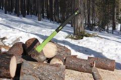Verdelend brandhout royalty-vrije stock fotografie