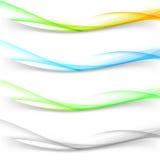 Verdeler van de de grens swoosh lijn van de Web de abstracte golf vector illustratie