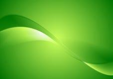 Verdes abstractos alisan el fondo de las ondas Imagen de archivo