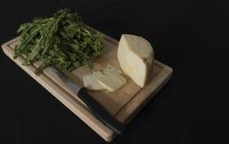 Verdes de nabo y queso del ricotta Fotos de archivo