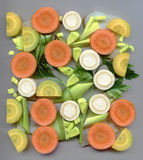 Verdes desbastados da sopa Foto de Stock Royalty Free