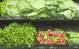 Verdes no mercado Fotografia de Stock