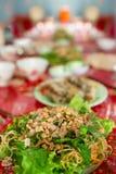 Verdes vietnamianos & macarronetes do alimento Fotografia de Stock