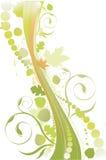 Verdes y marrones de la caída ilustración del vector