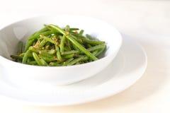 Verdi del fagiolo Immagini Stock