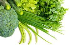 Verdi e verdure immagine stock