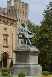 Verdi statue in Busseto Royalty Free Stock Photography