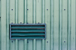 Verdi Venti. A green vent on the side of a barn Royalty Free Stock Photo
