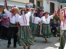 Verdiales dansare på den lokala fiestaen Royaltyfri Fotografi