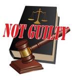 Verdict non coupable Photographie stock libre de droits