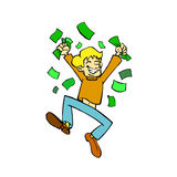 Verdien geld royalty-vrije illustratie