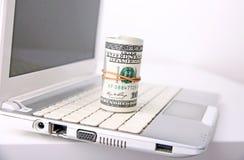 Verdien geld online, Internet-betalingen Royalty-vrije Stock Fotografie