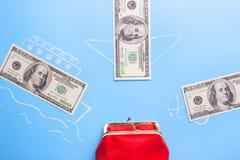Verdien geldconcept stock afbeeldingen