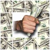 Verdien, sparen en geef Geld Stock Afbeeldingen