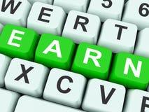 Verdien Zeer belangrijk toont het Verdienen van of het Krijgen van Job Online stock afbeelding
