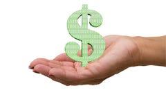 Verdienen des Geldes auf dem Internet Stockbild
