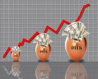 Verdienen des Geldes für Ruhestand Lizenzfreie Stockfotos
