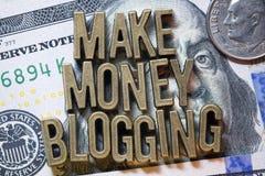 Verdienen Sie das blogging Geld Lizenzfreies Stockfoto