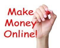 Verdienen Sie Geld Online Lizenzfreie Stockfotografie