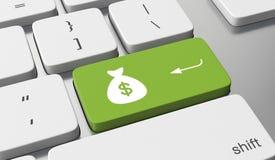 Verdienen Sie Geld Online Lizenzfreies Stockbild
