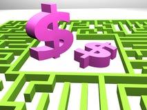 verdienend geldconcept Stock Foto's