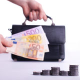 Verdienende euro Royalty-vrije Stock Foto