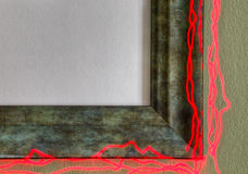 Verdigris Frame on Fire--You Fill in the Picture Royalty Free Stock Photos