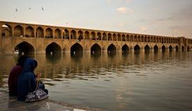 Verdikhan-Brücke, Isfahan, der Iran Stockfotos