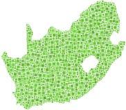 Verdissez la carte de l'Afrique du Sud Photo libre de droits
