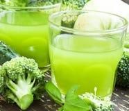 Verdissez le jus de légumes Photos libres de droits
