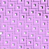 Verdissez le modèle carré et violet modifié la tonalité de squre de centre - fond illustration stock