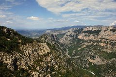 Verdon canyon Royalty Free Stock Images