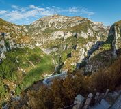 Verdon canyon point of view. The Verdon canyon in France, point of view Stock Image