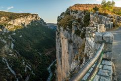 Verdon canyon, France. Stunning views over the Verdon canyon in France Stock Images