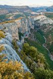Verdon canyon, France. Stunning views over the Verdon canyon in France Royalty Free Stock Photo