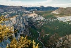 Verdon canyon, France. Stunning views over the Verdon canyon in France Stock Photography