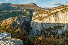 Verdon canyon, France. Stunning views over the Verdon canyon in France Royalty Free Stock Images