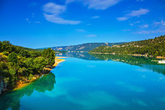 Verdon Canyon - in the French Alps Stock Photography