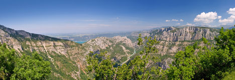 Verdon canyon. Canyon verdon gorge in provence, france Stock Images