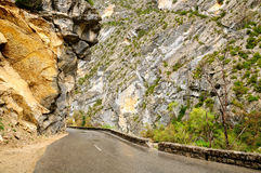 Verdon canyon road. Stock Image