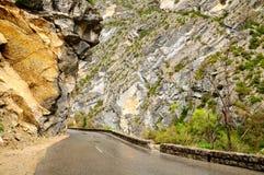 Verdon canyon road. Stock Image